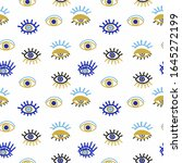 angry seeing eye mascot symbol  ... | Shutterstock .eps vector #1645272199