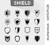 shield icons set | Shutterstock .eps vector #164529128