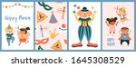 purim carnival greeting card...   Shutterstock .eps vector #1645308529