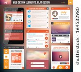 flat web design elements.... | Shutterstock .eps vector #164532980