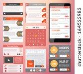 flat web design elements.... | Shutterstock .eps vector #164532983