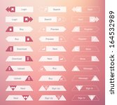 set of the buttons on stylish... | Shutterstock .eps vector #164532989