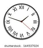 old vintage clock face | Shutterstock .eps vector #164537024