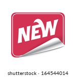 sticker new | Shutterstock .eps vector #164544014