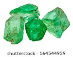 four rich green emerald... | Shutterstock . vector #164544929