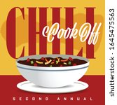chili cook off logo promotion | Shutterstock .eps vector #1645475563