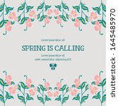 poster of spring calling  with... | Shutterstock .eps vector #1645485970