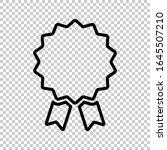 outline award badge icon flat... | Shutterstock .eps vector #1645507210