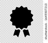 award badge icon flat vector on ... | Shutterstock .eps vector #1645507213
