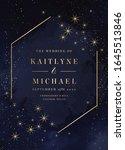 magic night dark blue card with ... | Shutterstock .eps vector #1645513846
