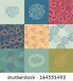 flower patterns set | Shutterstock .eps vector #164551493