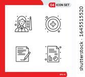 creative set of 4 universal... | Shutterstock .eps vector #1645515520