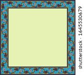 vintage square frame with... | Shutterstock .eps vector #1645530679