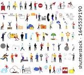 set of 78 flat cartoon... | Shutterstock .eps vector #1645539190