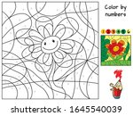 funny smiling flower. color by... | Shutterstock .eps vector #1645540039