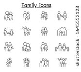family icon set in thin line... | Shutterstock .eps vector #1645552123