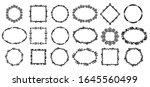 natural style frames set... | Shutterstock .eps vector #1645560499