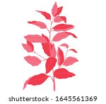 bold foilage illustration on white background multi colour textures in foilage. flower graphical design
