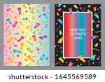vector design colorful... | Shutterstock .eps vector #1645569589