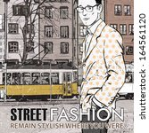 vector illustration of stylish... | Shutterstock .eps vector #164561120
