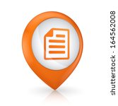 gps icon with symbol of notepad....