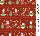 red line holiday seamless... | Shutterstock .eps vector #164565698