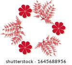 decorative frame of red... | Shutterstock .eps vector #1645688956