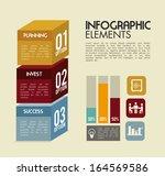 infographics design over pink... | Shutterstock .eps vector #164569586