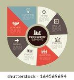 infographics design over gray... | Shutterstock .eps vector #164569694