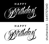 happy birthday inscription with ...   Shutterstock .eps vector #1645707640
