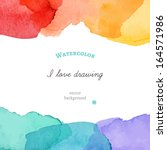 bright watercolor background.... | Shutterstock .eps vector #164571986