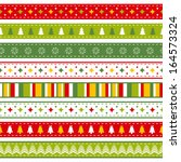 set of bright christmas ribbons | Shutterstock .eps vector #164573324