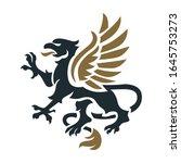 griffin heraldry symbol  ... | Shutterstock .eps vector #1645753273