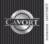 cavort silver badge or emblem.... | Shutterstock .eps vector #1645753879