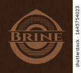 brine badge with wood background | Shutterstock .eps vector #1645754023