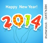happy new year 2014 colorful... | Shutterstock .eps vector #164576384