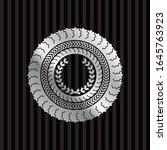 leaf crown icon inside silvery... | Shutterstock .eps vector #1645763923