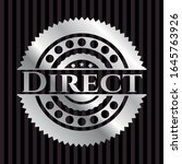 direct silvery emblem or badge. ... | Shutterstock .eps vector #1645763926