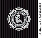 crunch icon inside silvery... | Shutterstock .eps vector #1645764073