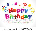 abstract happy birthday... | Shutterstock .eps vector #164576624