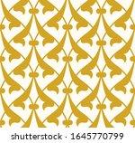 arabic floral seamless pattern... | Shutterstock . vector #1645770799