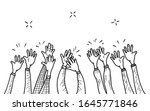 hand drawn of hands clapping... | Shutterstock .eps vector #1645771846