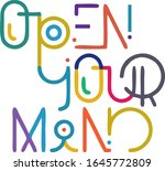 open your mind colorful vector...