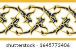 arabic floral seamless border.... | Shutterstock . vector #1645773406