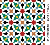morocco seamless pattern.... | Shutterstock . vector #1645774609