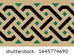 morocco seamless border.... | Shutterstock . vector #1645774690