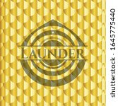 launder gold badge or emblem.... | Shutterstock .eps vector #1645775440