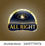 shiny badge with eye icon and... | Shutterstock .eps vector #1645775476