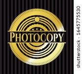 photocopy gold shiny badge.... | Shutterstock .eps vector #1645775530