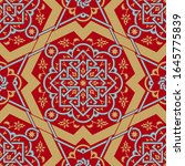 arabic floral seamless pattern... | Shutterstock . vector #1645775839